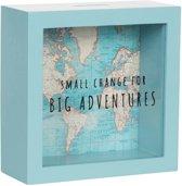 Spaarpot wereldkaart , big adventures . Sass&belle