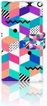 Sony Xperia XZ2 Compact Boekhoesje Design Blocks Colorful