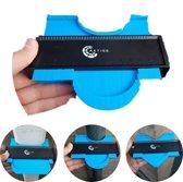 Aftekenhulp Prowork 5000 - Profielmeter Plinten - Profielaftaster - Profielmal - 12 cm/mm - Contourmallen - Blauw - Axties®