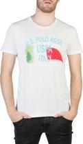 Heren T-shirt van  U.S. Polo - wit