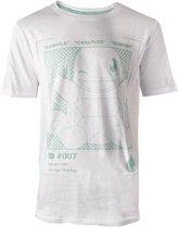 Pok�mon Heren Tshirt -2XL- Squirtle Profile Wit