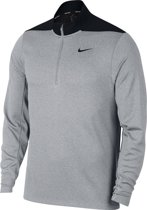 Nike Dry Top Hz Core Trui Heren - Wolf Grey/Pure Platinum/Black/Black - Maat L