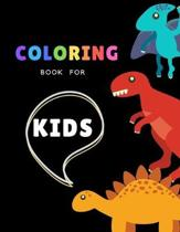 Coloring book for kids: 100 pages: Dinosaur coloring books for kids ages 4-8 years - Improve creative idea and Relaxing (Book9)