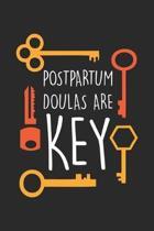 Postpartum Doulas are Key: Fr�hgeburt - Postpartum Doula Notizbuch gepunktet DIN A5 - 120 Seiten f�r Notizen, Zeichnungen, Formeln - Organizer Sc