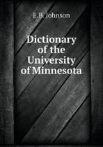 Dictionary of the University of Minnesota