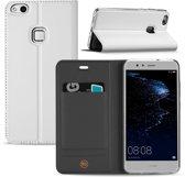 Huawei P10 Lite Hoesje Wit met Opbergvakje