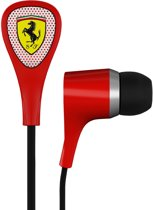 Logic3 Ferrari Scuderia S100I Noise Isolating Earphones + 3 Button Remote Rood PC + Mac + Mobile