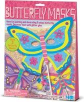 4M Crea Make&Paint Vlinder Maskers - Hobbyset