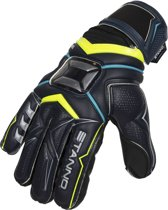Stanno Keepershandschoenen - Unisex - zwart/geel/blauw