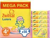 Zwitsal Luiers Maat 4+ & Billendoekjes Sensitive - 56 luiers & 285 doekjes - Voordeelverpakking