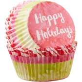 Wilton Cupcake vormpjes Happy Holidays / Kerst pk/75