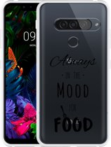 LG G8S ThinQ Hoesje Mood for Food Black