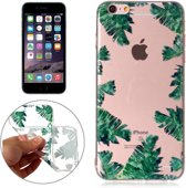 Let op type!! For iPhone 6 Plus & 6s Plus Green Leaf Pattern TPU Protective Case