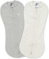 SwaddleMe Pod Inbakerdoek Grijs/Wit stippen 2pack