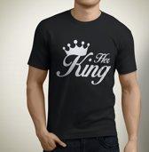Her King Tshirt | Zwart | Medium