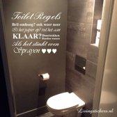 Muursticker Toilet Regels