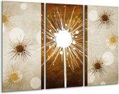 Canvas schilderij Art | Bruin, Wit, Grijs | 120x80cm 3Luik
