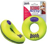 Kong Air Donut Met Piep Medium 1 St - Kauwspeelgoed - 115 mm x 115 mm x 49 mm - Geel