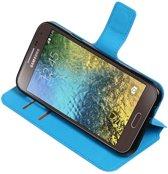 Blauw Samsung Galaxy E5 TPU wallet case booktype hoesje HM Book