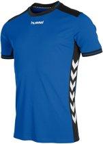 Hummel Lyon Sportshirt performance - Maat M  - Unisex - blauw/zwart