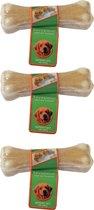 Hondenknook Gevuld bot met kip 16 cm, 120-140 gram per 3 stuks!