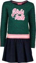 B.Nosy Meisjes Jurk - emerald green - Maat 122/128
