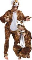 Onesie Volwassenenkostuum - Pluche Tijger - Kostuum - Maat XL - Carnavalskleding