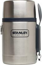 Stanley Adventure Vacuum Food Jar Thermosfles - 532 ml - RVS - Stainless Steel w/ Navy Accent