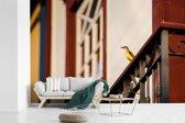 Fotobehang vinyl - Grote kiskadie kijkt vanaf een balkon uit op Rio de Janeiro breedte 540 cm x hoogte 360 cm - Foto print op behang (in 7 formaten beschikbaar)