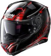 Nolan N87 Aulicus 81 Metal Black Red  Integraalhelm - Motorhelm - Maat L