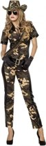 Camouflage catsuit met riem 38 (m)