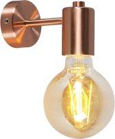 QAZQA Facil - Hanglamp - 1 lichts - D 130 mm - Koper