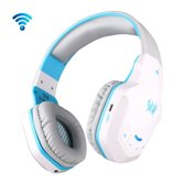 KOTION EACH B3505 Wireless bluetooth 4.1 Stereo Gaming Headset Support NFC met Mic voor Iphone 6 / Iphone 6 Plus / Samsung / HTC, Sony ((wit) + blauw)