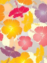 Fotobehang Flowers Abstract | XXL - 206cm x 275cm | 130g/m2 Vlies