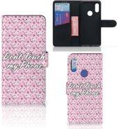 Xiaomi Redmi 7 Portemonnee Hoesje Flowers Pink DTMP