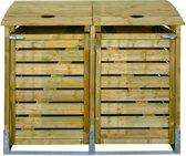 Intergard kliko ombouw - afvalcontainer dubbel 150x122x90cm