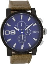OOZOO Timepieces C7498 - Horloge - 40 mm - Leer - Bruin