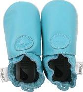 Bobux babyslofjes Classic dot turquoise Maat: L (13,8 cm)