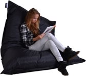 Drop & sit zitzak - Zwart - 130 x 150 cm - binnen en buiten