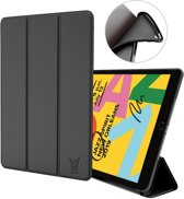 iPad 10.2 2019 Hoes - Smart Book Case Siliconen Hoesje - iCall - Zwart