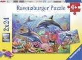 Ravensburger Kleurrijke onderwaterwereld Twee puzzels van 24 stukjes