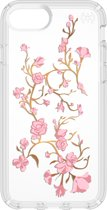 Speck Presidio Clear + Print - Hoesje voor iphone 8 - Gold Blossoms/Pink