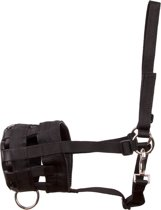 IR-Grasmasker met plaat Zwart X.L