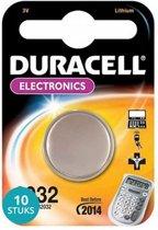 Duracell 2032 CR2032 DL2032 3v Lithium Batterij - 10 stuks
