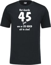 Mijncadeautje - Leeftijd T-shirt - Het duurde 45 jaar - Unisex - Zwart (maat 3XL)