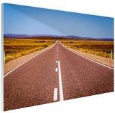 Weg Australie  Glas 120x80 cm - Foto print op Glas (Plexiglas wanddecoratie)