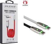 Olesit Gecertificeerde TPE TYPE-C USB-C Kabel 1 Meter Fast Charge 3.0A High Speed Laadsnoer Oplaadkabel - Veillig laden
