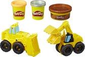 Play-Doh Wheels Graafmachine & Bulldozer - Klei Speelset