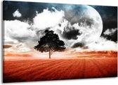Canvas schilderij Modern | Rood, Grijs, Wit | 140x90cm 1Luik