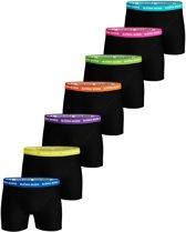 Bjorn Borg - Heren 7-Pack Solid Neon Boxershorts Zwart Multi - XXL